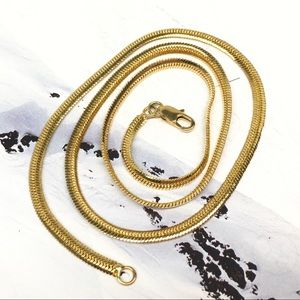 New Gold filled snake chain necklace